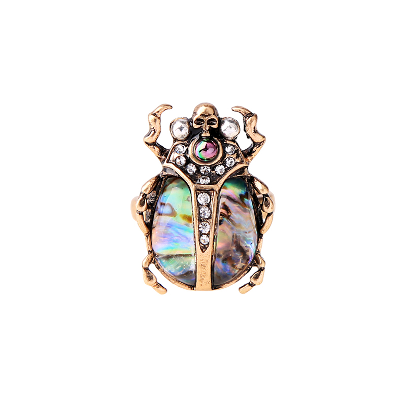 Women Personalized Multicolor Skull Insect Ring aliexpress Hot Sale Fashion Ring 2018 Finger Accessories Wholesale