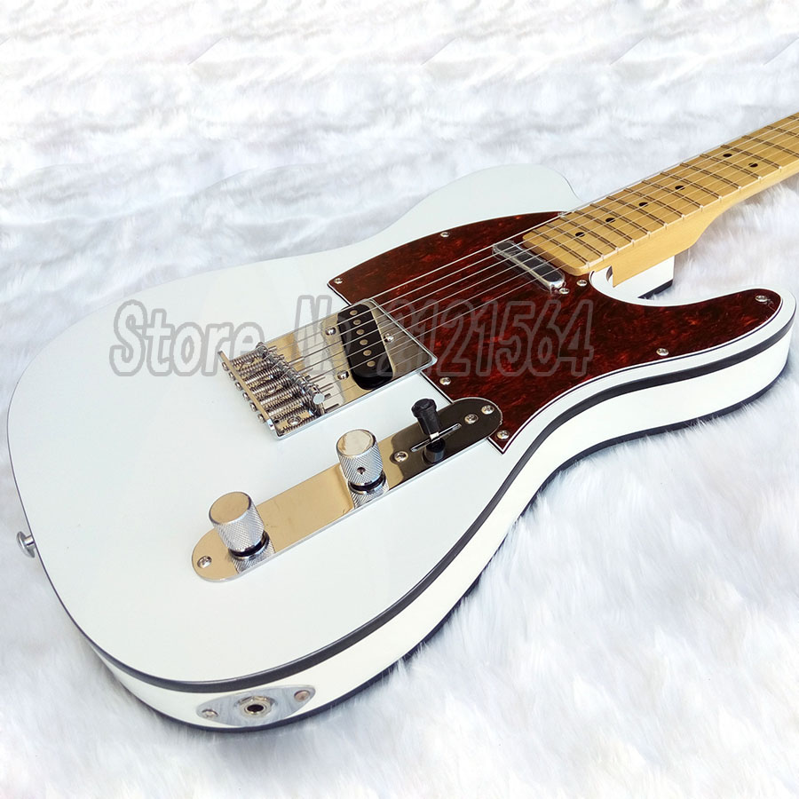 New Electric Guitar TL white body Black binding Maple Fretboard Chinese Custom Shop high quality