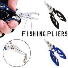Новые 1 шт. прочные портативные многофункциональные рыболовные плоскогубцы из нержавеющей стали, разделенные кольца, ножницы, Проволочная линия, резак, крючки, удаляющие