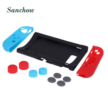 Sanchow 11 in 1 Silicone Case for Nintend Switch NS Console Protective Skin Cover with Thumb Stick Grip Caps for JoyCon