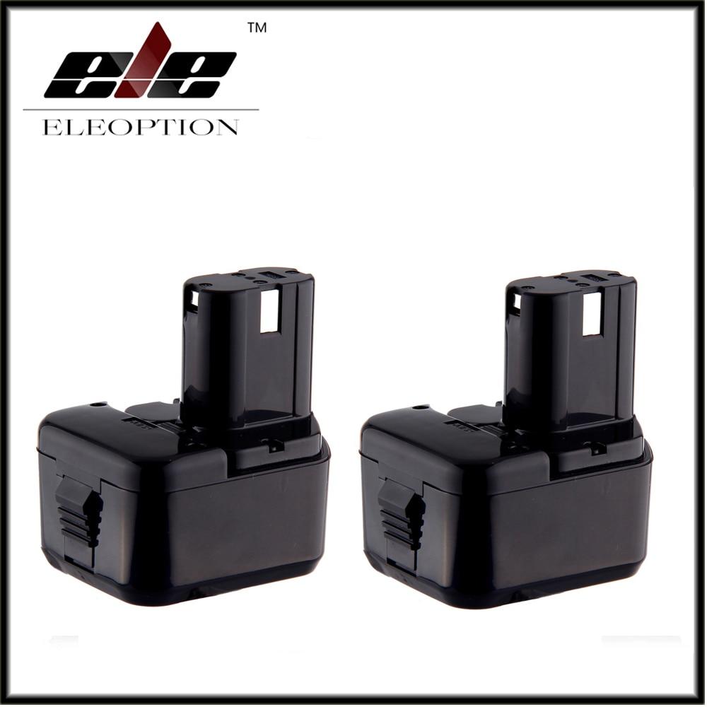 2x Eleoption 12V Battery for Hitachi EB1220BL EB1214S EB1212S WR12DMR CD4D DH15DV C5D аккумулятор для hitachi bcc1215 eb1214l eb1214s eb1220bl eb1224 2000mah cameronsino