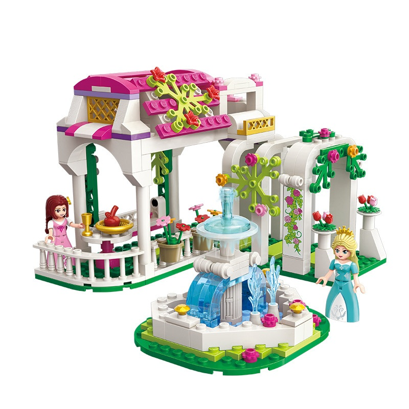 ENLIGHTEN City Girls Rose Dream Gallery Garden Building Blocks Sets Bricks Model Kids Gift Toys Compatible Legoings Friends 2017 enlighten city bus building block sets bricks toys gift for children compatible with lepin