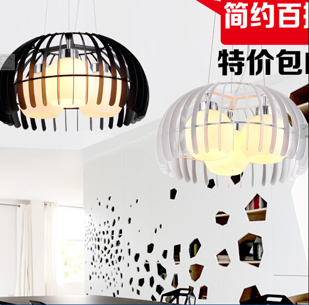 Здесь продается  Small Size Modern simple droplight glass Black White iron bird cage Pendant Light  Свет и освещение