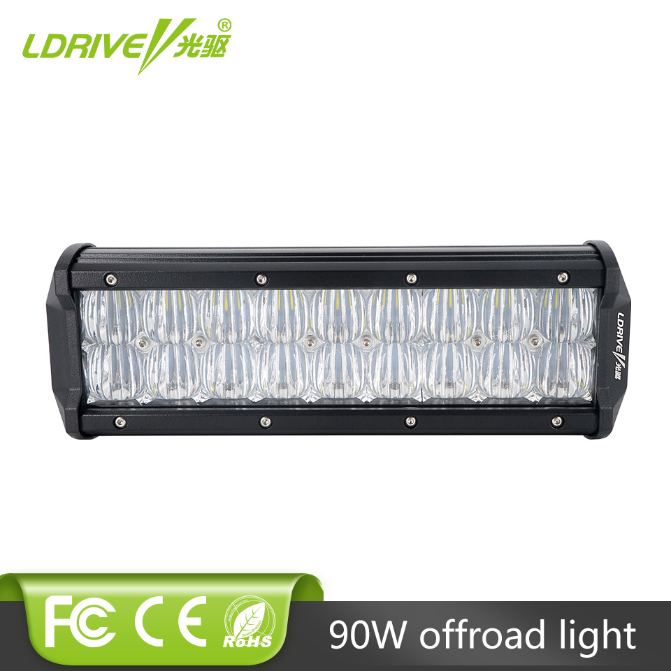 LDRIVE 9 90W 5D LED Work Light Bar Spot Flood Auxiliary Headlight OffRoad 4WD 4x4 Tractor UTE Truck SUV ATV LED Driving Lamp image