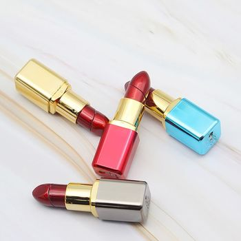 mini creative butane cute lipstick lighter and fire starter keychain