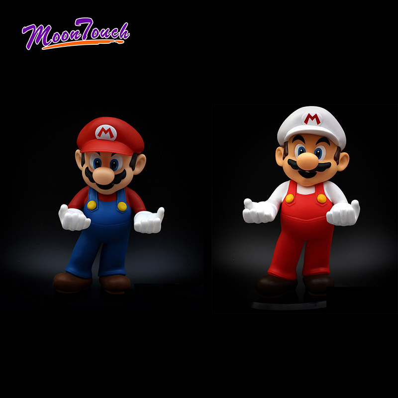 32cm Super Mario Bros Mobile Phone Holder PVC Large Photo Frame Rack Home Decoration Display Srand Children Birthday Gift