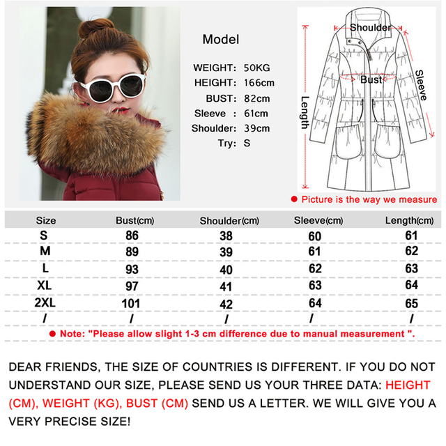 2019 New Winter Coat Women  Winter Jacket Womens Parkas Gloves warm detachable fur collar detachable hat Slim fit Outwear