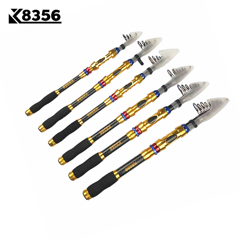 K8356 1.8m 2.1M 2.4M 2.7M 3.0M 3.6M Carbon Super Hard Spinning Fishing Rod Telescopic Rock Fishing Rod Carp Feeder Rod Lure