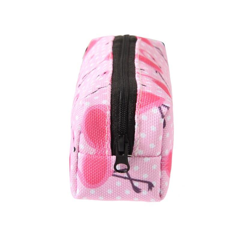 Jom Tokoy 3d Print Cosmetic Bag 2018 Fashionable Women Pink Flamingo