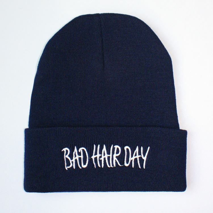 Trade Bad Hair Day Beanie Hat Hiphop Hats Knitting Wool Keep Warm Men Women Cap 20 colors fall and winter europe and the united states men and women s bad hair day embroidery beanie kintted wool hat hiphop