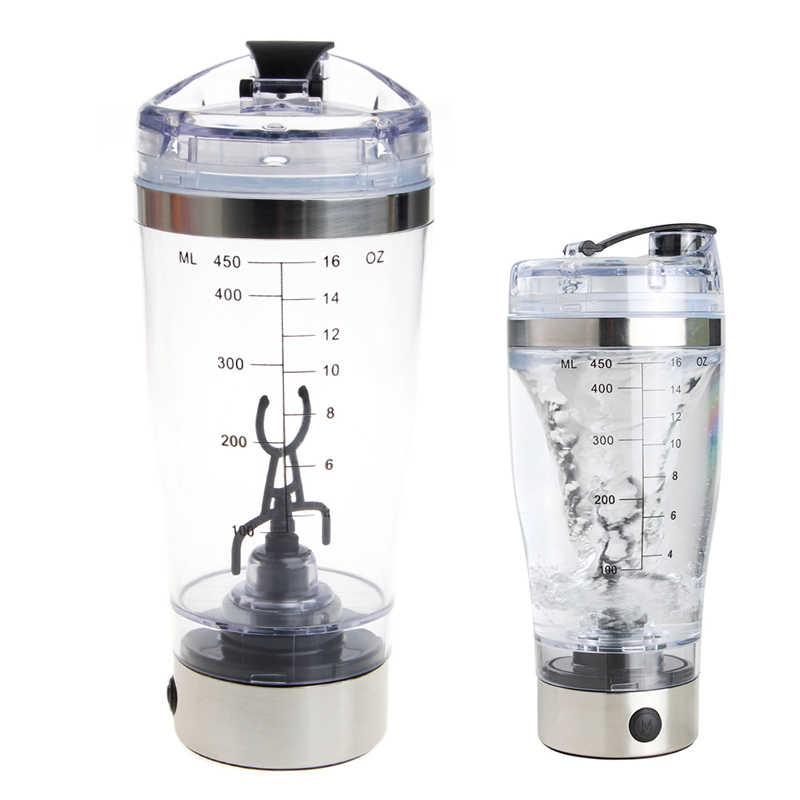 450ml BPA Shaker Proteína De Automação Elétrica Liquidificador A Minha Garrafa de Água Automático de Movimento Ao Ar Livre Turnê Leite Café Misturador Inteligente