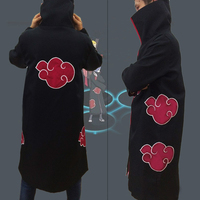 New Fashion Unisex Cosplay Costumes Japan Anime Naruto Itachi Akatsuki Cosplay Robes Cool Man Cosplay Party