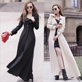 2017 Fashion spring autumn women long coat slim long trench coat plus size ladies' single-breasted trench female overcoat