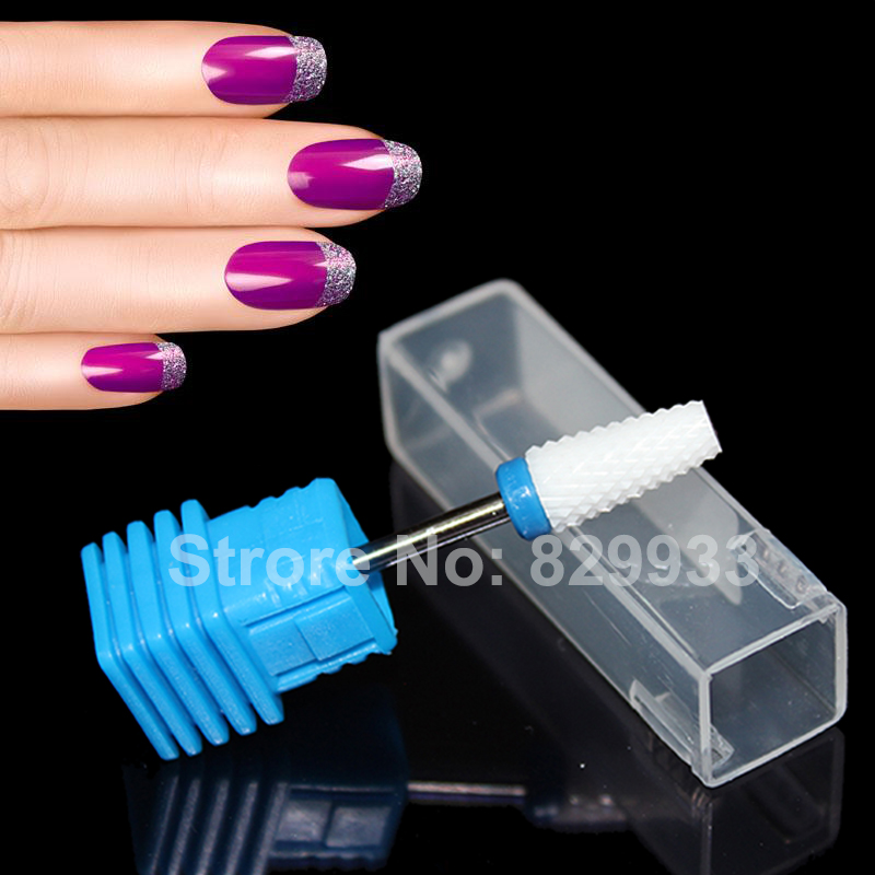 Free shipping 1pc Ceramic Nail Drill Bit Manicure Pedicure Electric Machine Left Handed Nail Art Salon Foot Calluses Drill Tools
