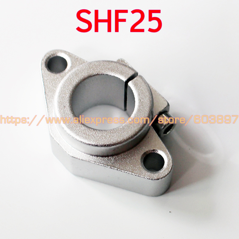 SHF25 Linear Rod Rail Shaft Support XYZ Table CNC route, shaft end supports horizontal type