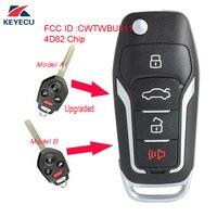 KEYECU Replacement Upgraded Flip Remote Car Key Fob 315MHz 4D82 for Subaru Forester Impreza Legacy 2012 2017 FCC: CWTWBU811