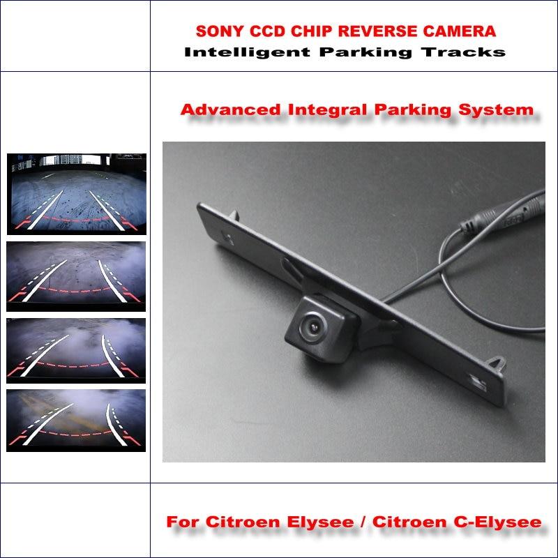 Backup Rear Reverse Camera For Citroen Elysee / Citroen C-Elysee / HD 860 Pixels 580 TV Lines Intelligent Parking Tracks часы elysee 33033n 33032n 33034n