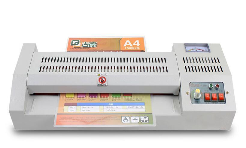 Профессиональный регулируемый уровень Температура металлический ламинатор горячей и холодной A3 фото A4 ламинатор для офиса/домашний 4 роли