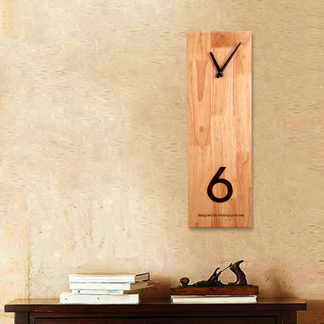 PINJEAS Wood Wall Clock Decorative Clocks High Quality Fashion Vintage Living Room Watches Absolutely