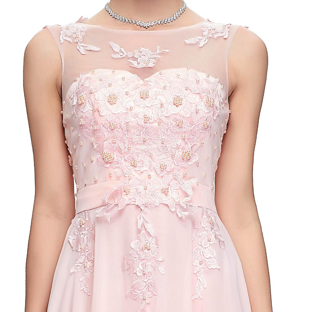 Grace Karin Elegant Long Evening Dresses 2016 Chiffon Pink Purple Red Royal Blue Black Formal Evening Dress Gown Abendkleider 28