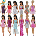 UCanaan Randomly Lot 20 Pcs = 10 Shoes +10 Sets Fashion Outfit Blouse Trousers Dress Shorts Pants Skirt Clothes For Barbie Doll