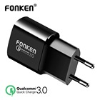 FONKEN USB Charger Quick Charge 3.0 Fast Charger QC3.0 QC2.0 18W Wall USB Adapter for Power Bank Portable Mobile Phone Charger