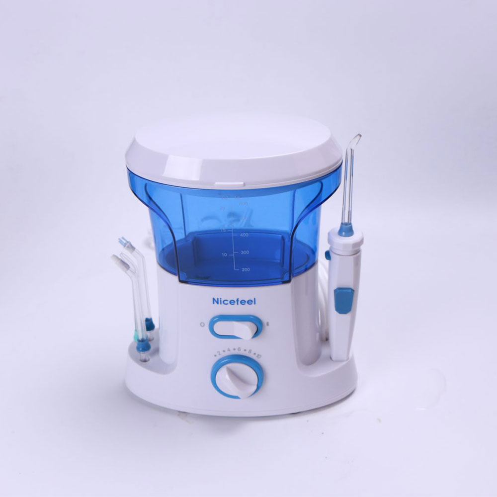 ФОТО Hot Sales Dental Water Flosser Oral Irrigator for Dental Hygiene & Tooth Care with 7pcs Jet Tip and 600ml Water Tank