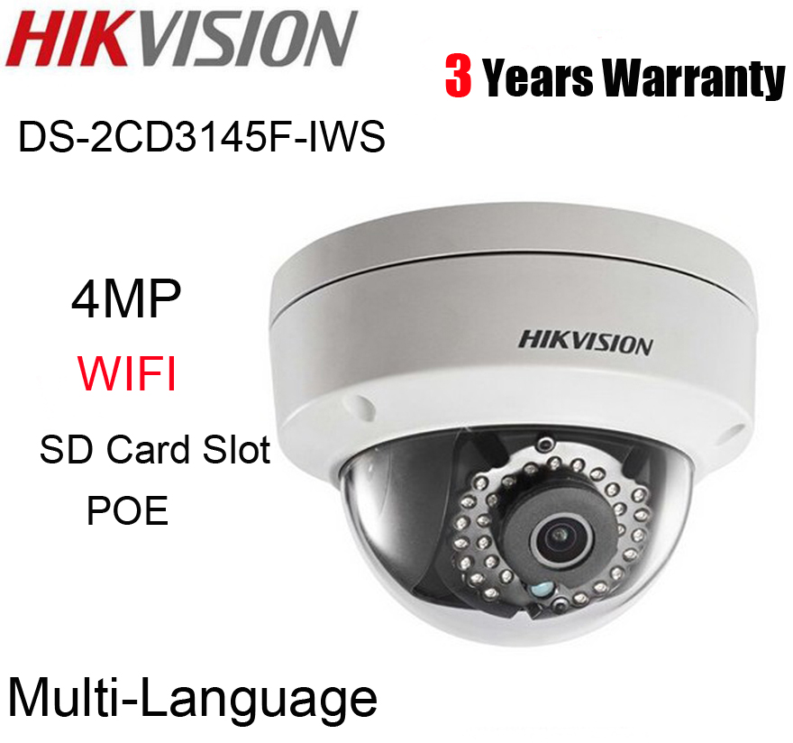 bilder für Hikvision 4MP Wifi Dome Ip-kamera DS-2CD3145F-IWS repalce DS-2CD3145F-is mehrsprachige H.265 POE audio alarm tf-einbauschlitz cam