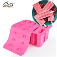 WOWCC 1 шт. детский силиконовый кубик для мороженого с крышкой лоток формы для мороженого многоразовые поп-формочки для льда сковорода кухонны...