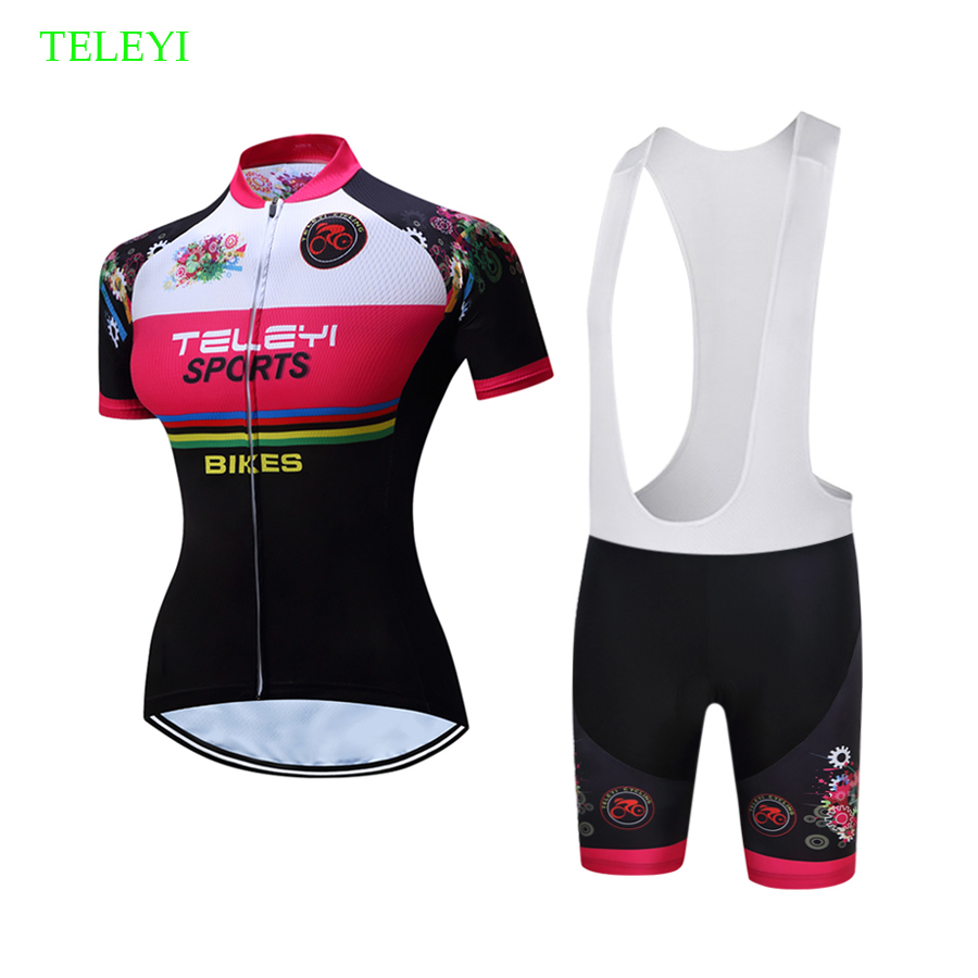 2019 Summer Cycling Jersey Set Women Short Sleeve Road Bike Clothing Bib Short MTB Bicycle Clothes Maillot Wear Kit Sport Outfit
