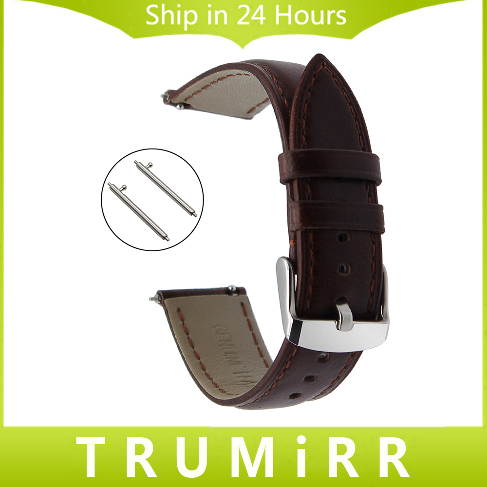 Crazy Horse Genuine Leather Watch Band for Armani DW CK Timex Diesel DZ Quick Release Strap Wrist Bracelet Brown 18mm 20mm 22mm