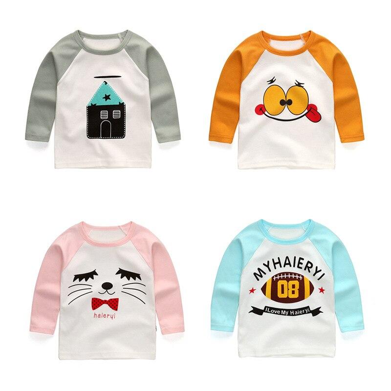 2017 nowych dzieci wiosna długi rękaw T-shirt dla dzieci - Ubrania dziecięce - Zdjęcie 3