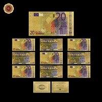10 قطعة/الوحدة الذهب احباط اليورو ورقة البنكنوت العملات المال نسخة اليورو 20 تذكارية هدية