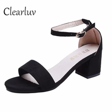 Summer new style with sandals thick open toe suede sexy Roman fashion Gladiator shoes C1373