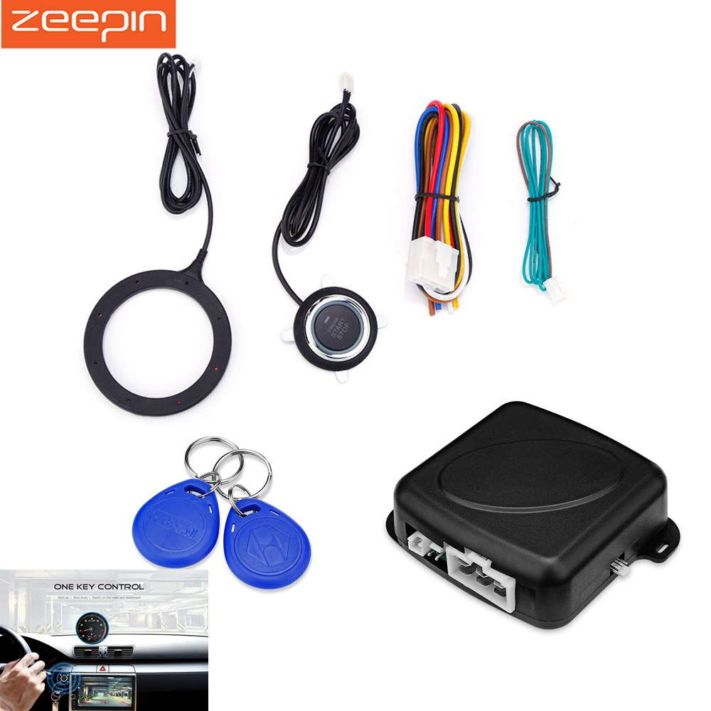 Car One Start Stop Engine System Lock Ignition Button Keyless Entry Way Alarm With Remote Function View Gy902c Anti Theft Push Rfid Switch