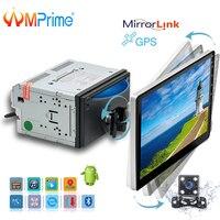 AMPrime 10,1 2 Din мультимедиа для Android плеер вращающийся Автомобильный Радио Универсальный Автомобильный CD/DVD плеер Поддержка Wifi gps FM