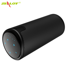 лучшая цена ZEALOT S8 Touch Control Portable Wireless Bluetooth Speaker with Sling Cover Aux Audio/TF Car FM radio Party Speaker 3D stereo