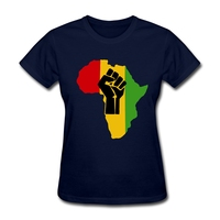 Womens Africa Flag Comic Easter Sunday Tee Shirts Size M Africa Power His And Her T