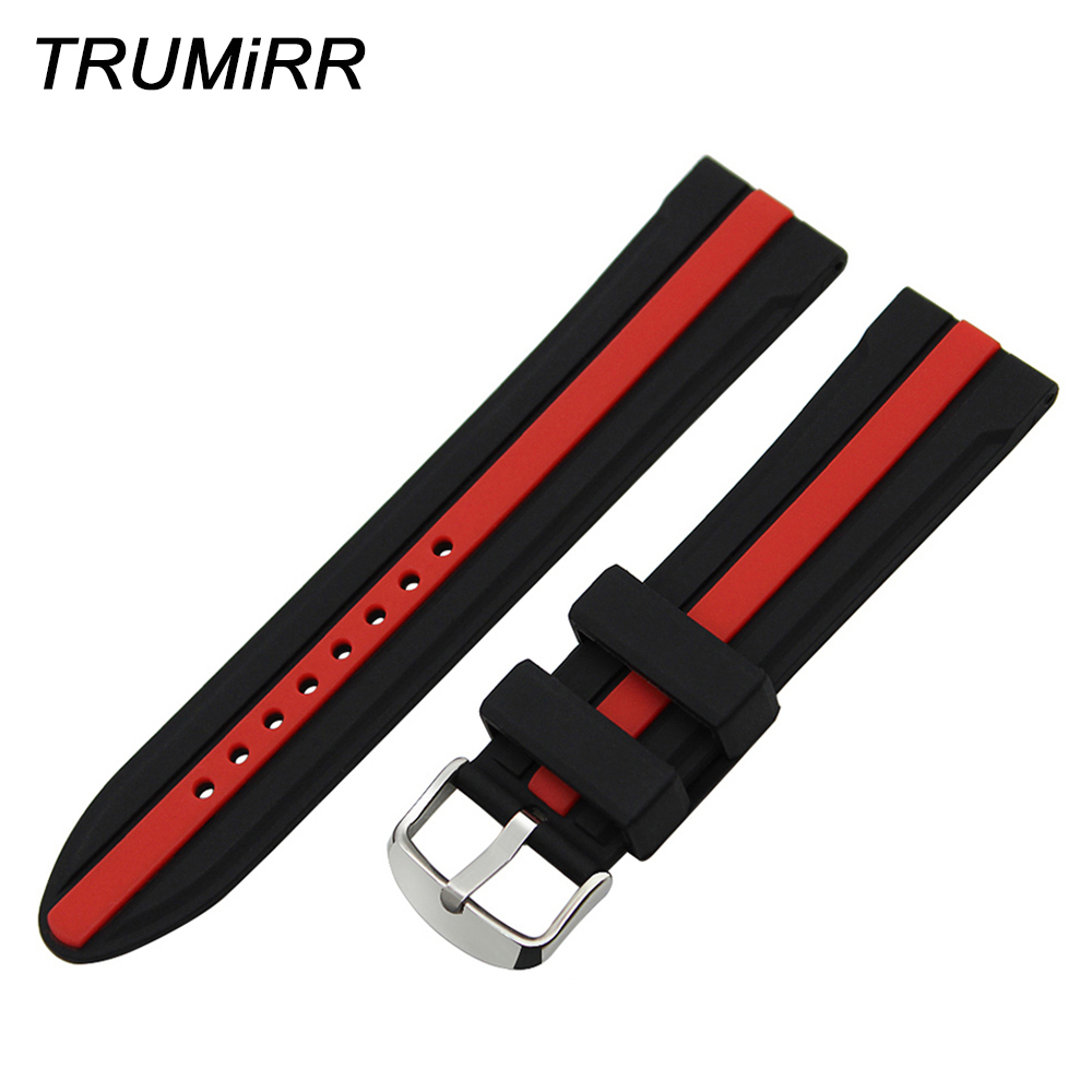 19mm 20mm 21mm 22mm 23mm 24mm Silicone Rubber Watch Band Wrist Strap +Tool for PRC200 T17 T461 T014 T035 T039 T048 T067 T33 T91 цена