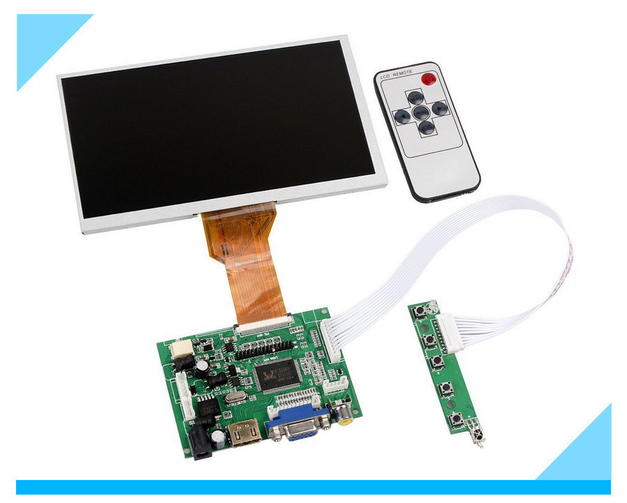 skylarpu for 9''Inches Raspberry Pi LCD Display Screen TFT Monitor AT090TN12 LCD with HDMI VGA Input Driver Board Controller skylarpu hdmi vga control driver board 7inch at070tn90 800x480 lcd display touch screen for raspberry pi free shipping