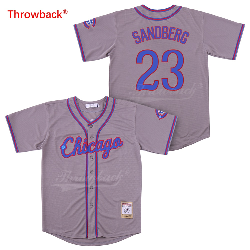 Kind-Hearted Throwback Jersey Mens Chicago 23 Sandberg Jerseys Baseball Jersey Size S-xxxl Shirt Wholesale Stiched 2019021818 To Help Digest Greasy Food Baseball Jerseys