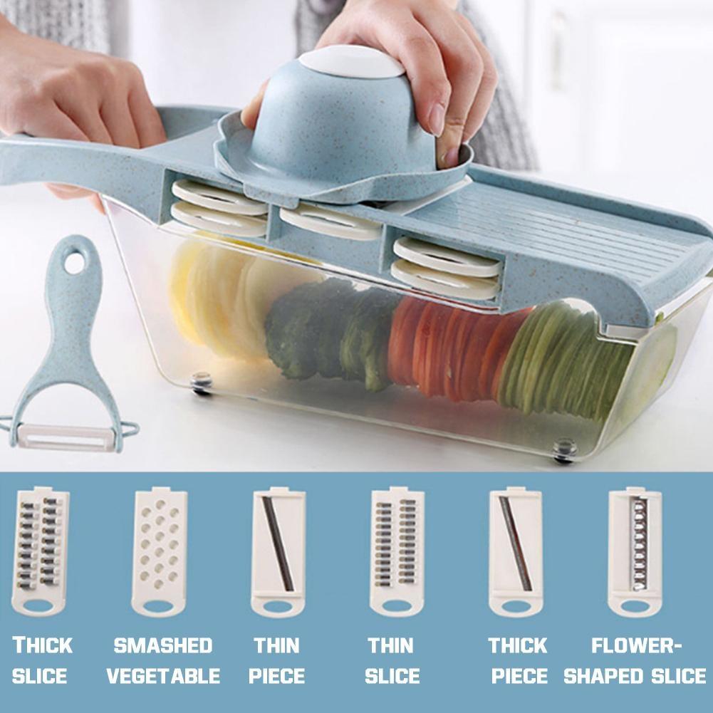 Potato Slcing Cutter Tool Grater Home Rubbing Radish Potato Chip Slicing Multi-function Chopping Machine Kitchen Gadgets Tool 40