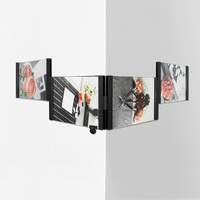 LEGGY HORSE 5 X7 4pcs Set DIY Collage Photo Frames Removable Acrylic Picture Frame Hanging Wall