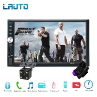 LAUTO 2 Din Car Radio 7 Touch Screen Auto Multimedia Player 1080P Full HD 2din Car MP5 Player With Rear View Camera Remote