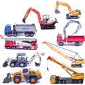 Children toys kaidiwei Discasts and toy vehicle metal Engineer truck alloy model excavator fire engine crane fire car kids gift