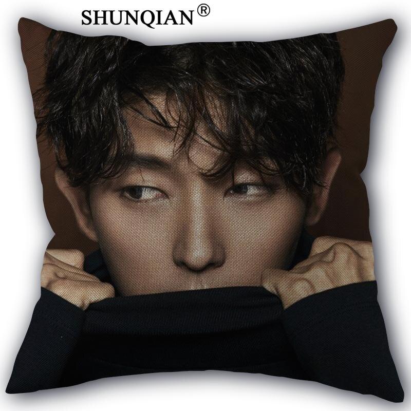 Nice Pillow Cover LEE JOON GI Pillowcase Cotton Linen Fabric Home Textile Square Pillowcase 45X45cm Wedding Decorative No Fade