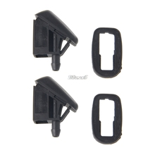 Car styling 2 Pcs Fan Shaped Water Spray Windshield Wiper Jet Washer Nozzle For Ford Focus 2 mk2 mk3 Car Accessories