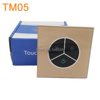 TM05 DC12-24V 8A 3 keys LED Touch Panel Wall Mounted Dimmer for Single Color LED Strip Brightness Adjustable Controller
