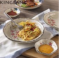 1PC 8 Inch Japanese Style Ceramic Porcelain Sakura Dinner Plate