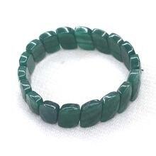 Зеленый авантюрин jades браслет натуральный камень бусы diy